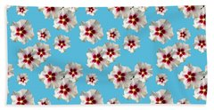 Beach Sheet featuring the mixed media Hibiscus Flower Pattern by Christina Rollo