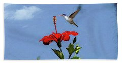 Beach Towel featuring the photograph Hibiscus High by John Kolenberg