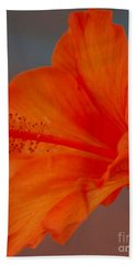 Hot Orange Hibiscus Beach Towel
