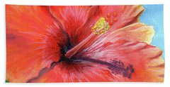 Hibiscus Passion Beach Sheet