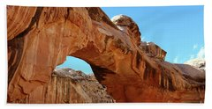 Hickman Bridge Capitol Reef Beach Sheet