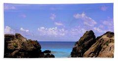 Hidden Cove In Bermuda Beach Towel