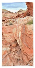 Beach Towel featuring the photograph Hidden Cove In Valley Of Fire by Ray Mathis