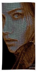 Beach Sheet featuring the digital art Hidden Face In Sepia by Rafael Salazar