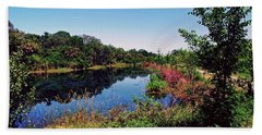 Beach Towel featuring the photograph Hidden Lake by Gary Wonning