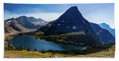 Beach Towel featuring the photograph Hidden Lake Panorama At Glacier National Park by Lon Dittrick