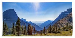 Beach Towel featuring the photograph Hidden Lake Valley Glacier National Park by Lon Dittrick