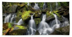 Beach Towel featuring the photograph Hidden Mossy Falls by Bill Wakeley