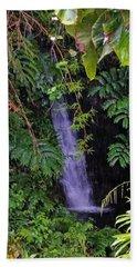Small Hidden Waterfall  Beach Towel