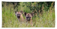 Hide-n-seek Hyenas Beach Towel