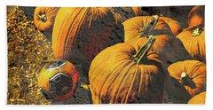 Hiding In Plain Pumpkin Beach Towel by Deborah Nakano