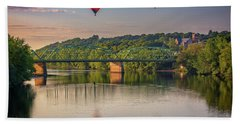 Beach Towel featuring the photograph High Above The Androscoggin by Rick Berk