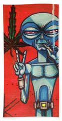 High Alien Beach Towel