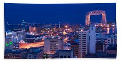 High Angle View Of A City, Canal Park Beach Towel