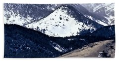 Beach Towel featuring the photograph High Country Snow Storm by Nancy Marie Ricketts