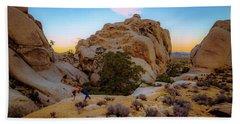 High Desert Pose Beach Towel
