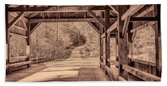 High Falls Covered Bridge Beach Towel