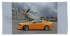 High Flyers - Mustang And P51 Beach Towel