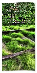 High Line Nyc Railroad Tracks Beach Sheet by Joan  Minchak