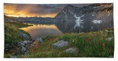 High Mountain Morning In Idaho Beach Towel by Leland D Howard