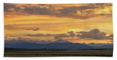 Beach Sheet featuring the photograph High Plains Meet The Rocky Mountains At Sunset by James BO Insogna