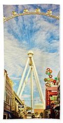 High Roller Wheel, Las Vegas Beach Towel