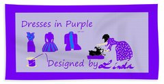 High Style Fashion, Dresses In Purple Beach Towel