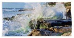High Tide On The Rocks Beach Towel