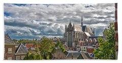 Highland Church Seen From Leiden Castle Beach Towel