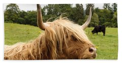 Beach Towel featuring the photograph Highland Coo by Christi Kraft