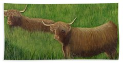 Highland Cows Beach Sheet