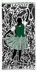 Beach Towel featuring the digital art Highland Dancing by Darren Cannell