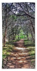 Hiking Meridian State Park  Beach Sheet by Debra Martz