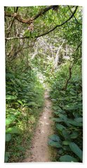 Hiking Path In The Atlantic Forest Beach Sheet
