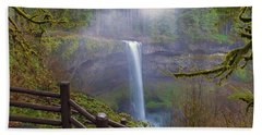 Hiking Trails At Silver Falls State Park Beach Towel