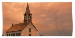 Hill Country Sunset - St Olafs Church Beach Towel
