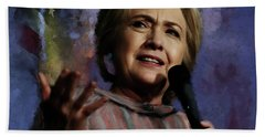 Hillary Clinton 01 Beach Towel by Gull G