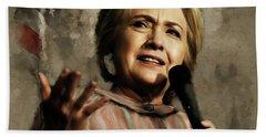 Hillary Clinton 02 Beach Towel by Gull G