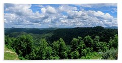 Hills And Clouds Beach Towel