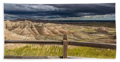Hills Behind The Fence Beach Towel