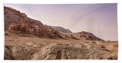 Hills By The Dead Sea Beach Towel