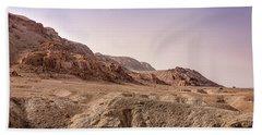 Hills By The Dead Sea Beach Sheet