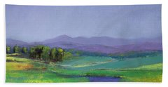 Hills In Bloom Beach Sheet by David Patterson