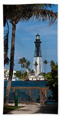 Hillsboro Inlet Lighthouse And Park Beach Sheet