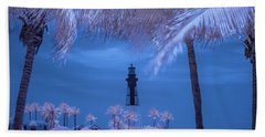 Beach Towel featuring the photograph Hillsboro Inlet Lighthouse Infrared by Louis Ferreira