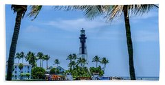 Hillsboro Inlet Lighthouse Beach Sheet by Louis Ferreira
