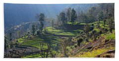 Himalayan Stepped Fields - Nepal Beach Towel