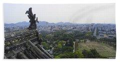 Himeji City From Shogun's Castle Beach Towel