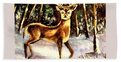 Hinds Feet Beach Towel by Hazel Holland