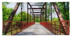 Hinkson Creek Bridge Beach Sheet by Cricket Hackmann